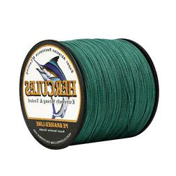 4 strands extreme braided fishing line green