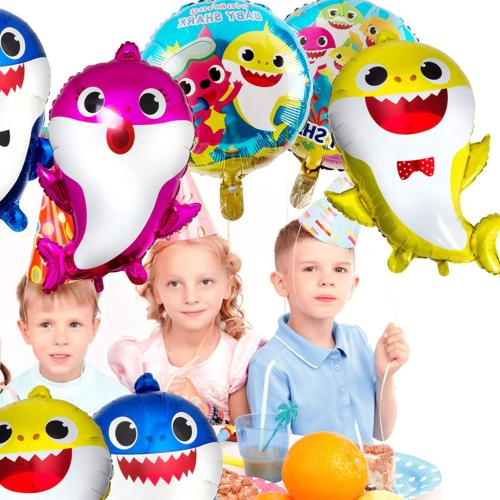 7 Baby Shark Balloons, Baby Cute Shark Party Supplies for Baby