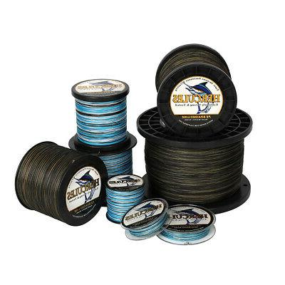 blue camouflage moss camo braided fishing line