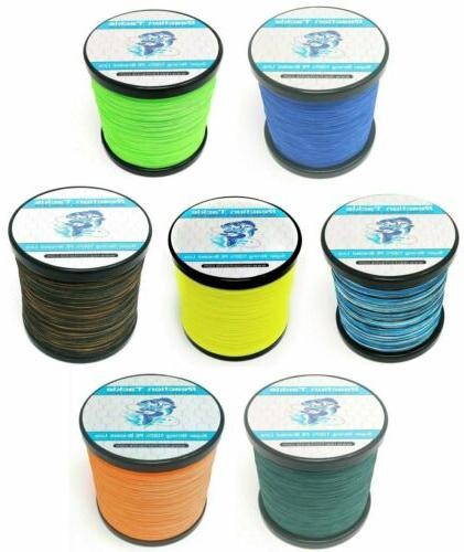 braided fishing line various sizes and colors