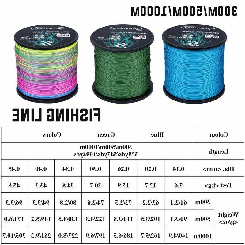 Fishing Line 9 Braided 300M 500M Strong Multifilament Durable