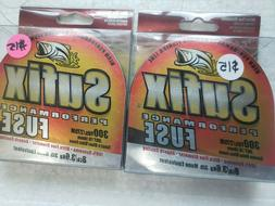 Lot of 2- Sufix Fuse Performance Braided Fishing Line 8Lb Sm